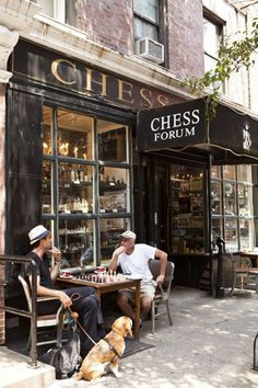 Game of chess, Greenwich Village, NYC, love this place . I've got to visit this place ! It's only a stone throw from New York Univ. Greenwich Village, West Village, Ville New York, A New York Minute, Voyage New York, Empire State Of Mind, I Love Nyc, Little Italy, City That Never Sleeps