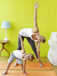 Some yoga poses to do with your child. Fun!