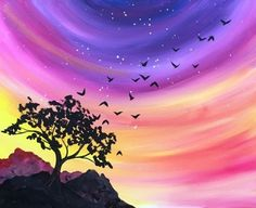 We host painting events at local bars. Come joi… Paint Nite. We host painting events at local bars. Come join us for a Paint Nite Party! Night Painting, Art Painting, Abstract Artists, Pastel Art, Watercolor Paintings, Painting Inspiration, Canvas Art, Painting Projects, Beautiful Art