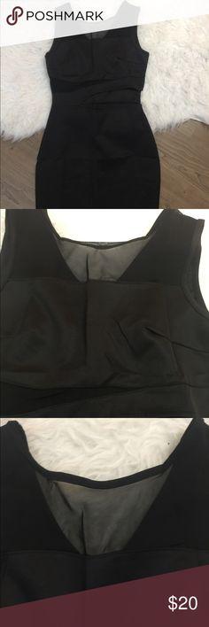 Black mini dress cut out mesh Stretchable new with tag Dresses Mini