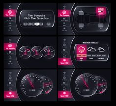 Car GUI preview by upiir.deviantart.com on @deviantART