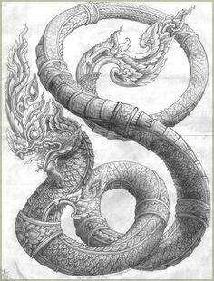 love the detail in this for the Naga part of the tattoo Cambodian Tattoo, Khmer Tattoo, Thai Tattoo, Thailand Tattoo, Thailand Art, Buddha Tattoos, Body Art Tattoos, Sak Yant Tattoo, Asian Tattoos