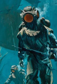 Greg Manchess - 20,000 Leagues Under The Sea (detail)