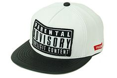 ede91b72bfb New Parental Advisory Explicit Content Snapback Hat Beaseball Cap (Black)  at Amazon Men s Clothing store