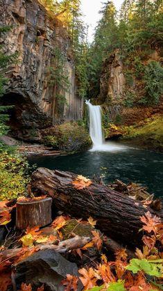 Toketee Falls, Oregon. source Flickr.com