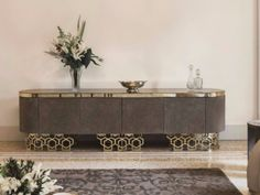 Classic style sideboard with doors VICKY by Fratelli Longhi design Giuseppe… Sideboard Furniture, Metal Furniture, Luxury Furniture, Furniture Decor, Furniture Design, Modern Buffet, Modern Sideboard, Dining Cabinet, Home Decor Trends