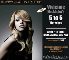 Come for 1,3, or 5 Days to learn the valuable skills you want to learn to stay ahead of the competition! April 7-11 2013 #hair #design #workshop #education #learn