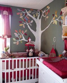 Cute idea for painting a nursery.