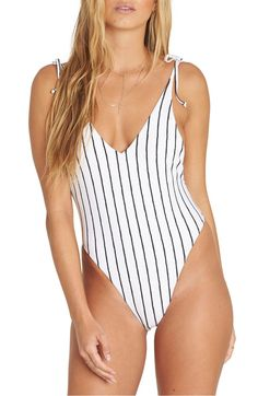 Flora Beat One-Piece Swimsuit,                         Main,                         color, Seashell