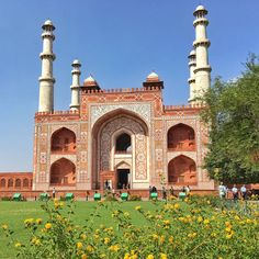 Tomb of Akbar the great , Agra , India.                                                                                                                                                                                 Mais