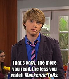. Chad Dylan Cooper, Sterling Knight, Sonny With A Chance, Good Books, Tv Shows, Shit Happens, Reading, Disney, Laughing