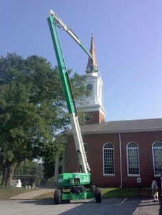 #Church steeple #painting project in Rex, Ga.