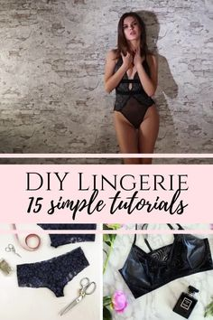 The Easiest Lingerie Sewing Pattern! A Pdf Bralette Pattern And Underwear Pattern - Creative Fashion - How to make DIY Lingerie. These easy ideas tutorials include seductive babydoll dresses from old cl - Underwear Pattern, Lingerie Patterns, Sewing Lingerie, Dress Sewing Patterns, Sewing Patterns Free, Clothing Patterns, Fashion Lingerie, Sew Underwear, Fashion Patterns