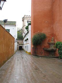 Al fondo del rincón de Cernuda, en el Barrio de Santa Cruz de Sevilla, unas escaleras al cielo