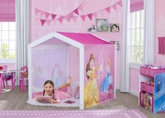 Girl Room, Girls Bedroom, 6 Year Old Girl Bedroom, Bedroom Ideas, Bedroom Designs, Bedrooms, Wood Playhouse, Indoor Playhouse, Playroom Furniture
