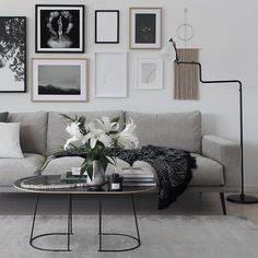 The thin welded frame of the Airy Table series creates a geometric and sophisticated silhouette that is further refined by a light, slim tabletop. Designed by one of the leading designers in Scandinavia, Cecilie Manz. Interior Design Living Room, Living Room Decor, Bedroom Decor, Scandinavian Living, Scandinavian Design, Contemporary Bedroom, Design Trends, Modern Furniture, Lilies