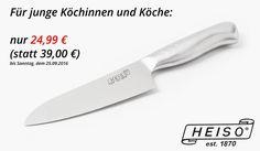 Unser Angebot für junge Köchinnen und Köche. Das perfekte Allzweckwerkzeug. Jetzt für kurze Zeit 36 % sparen. . Link zum Angebot in der Profilbeschreibung. . Dieses Küchenmesser ist etwas ganz besonderes. Der Schliff der Klinge ist extrem dünn wodurch das Messer eine extreme Schärfe gewinnt. Der hohle Kern des Griffes lässt dieses Küchenmesser federleicht wirken. Eine wunderbare Schneiderfahrung die man nicht mehr missen möchte. Da dieses Küchenmesser keine Holzkomponenten besitzt ist es…