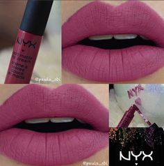 "nyx prague Ibiza is pretty too - ""matte deep rose pink"""