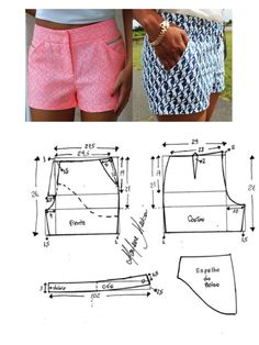 New Free Sewing Patterns shorts Ideas When you sewn outfits, you might be probably going to work with a sewing pattern. So if you feel unsure regar shorts Sewing Shorts, Sewing Clothes, Diy Clothes, Crochet Clothes, Sewing Patterns Free, Free Sewing, Clothing Patterns, Pattern Sewing, Sewing Men