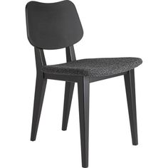 primary nocturnal chair in dining chairs, bar stools | CB2 | 17w x 19d x 31h | Black with a matte lacquer finish | Solid beech frame | $199