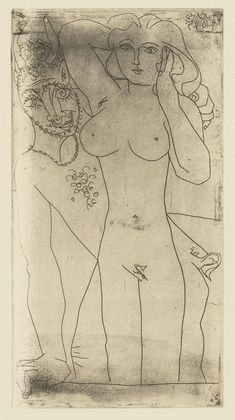 Pablo Picasso Faun and Woman II (Faune et femme II) (October 4, 1945)