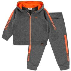 Armani Baby Boys Grey & Orange Tracksuit