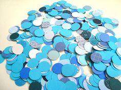 600 Blue Multicolor Confetti Table decor Dots 1/2 inch by Wcards, $6.20