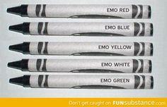 New emo crayons