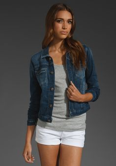 7 For All Mankind Double Welt Pocket Jacket in California Del Sol 2