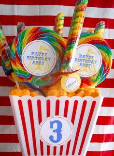 Circus Party Inspiration Board by Bella Bella Studios ~ via great birthday ideas #circus #party #lollipops