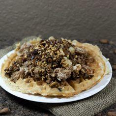 Healthier Pulled Pork + Waffles