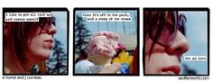 ...then it's off to the park, and a scoop of ice cream for my hero.