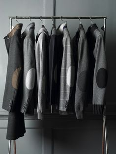 ? Masculine & elegance Men's fashion wear grey Elbow Patches. Back to Elbow Pads - Hackett Designer | http://awesome-men-fashion-gallery.blogspot.com