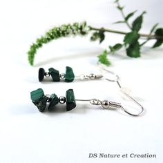 Nature earrings malachite jewelry earthy by DSNatureetCreation https://www.etsy.com/listing/244484626/nature-earrings-malachite-jewelry-earthy