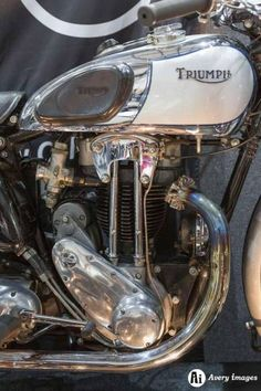 Click this image to show the full-size version. Triumph Motorbikes, Triumph Bikes, Triumph Bonneville, Triumph Motorcycles, Cars And Motorcycles, Custom Motorcycles, Motorcycle Museum, Motorcycle Engine, Motorcycle Gear