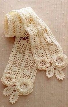Вязание шарфика крючком