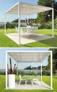 Polycarbonate #gazebo FORMENTERA by CAGIS #outdoor #garden #summer