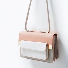 ed121361fd38 Mixed media messenger bag Fashion Handbags