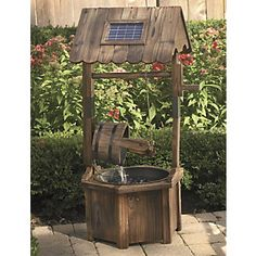 Solar Wishing Well Fountain from Through the Country Door®