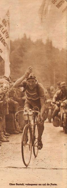 Tour de France 1948. 16-07-1948, 14^Tappa. Briançon - Aix-les-Bains. Col de Porte. Gino Bartali (1914-2000) [ButCLUB] (www.cyclingpassions.eu)