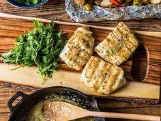 Cod Recipes, Salmon Recipes, Sauce Recipes, Fish Recipes, Seafood Recipes, Grilled Halibut, Traeger Recipes, Grilling Recipes