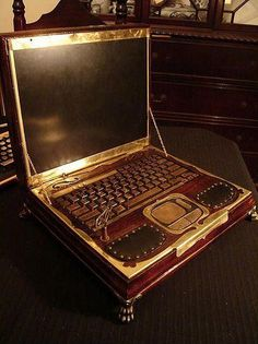 Victorian Style Lap-top by Jeremy Hopkins!  I don't have this ...but I want it! @walyou  - What a great idea!