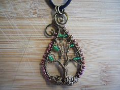 Paisley Tree of Life Pendant Vintage Bronze by OurFrontYard, $33.77