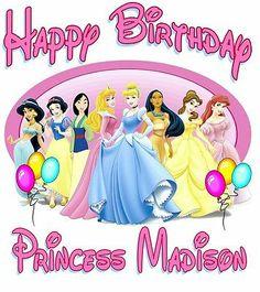 NewPersonalized Disney Princess Themed Birthday T Shirt #2