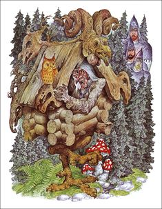 Image result for russian mushroom artwork