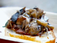 Masterchef recipe: Crostini of mushroom and roasted veal Master Chef, Masterchef Recipes, Mushroom Stock, Masterchef Australia, Veal Recipes, Grilled Bread, Sauteed Mushrooms, Serving Dishes, Recipe Collection
