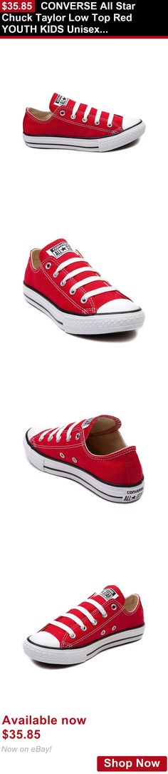 Children boys clothing shoes and accessories: Converse All Star Chuck Taylor Low Top Red Youth Kids Unisex Canvas Sneakers BUY IT NOW ONLY: $35.85