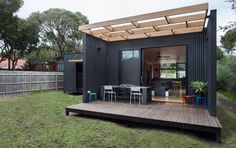 A small, modular home in Victoria, Australia. Designed by ArchiBlox. #homedesign