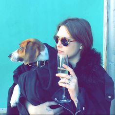 """""""I'd have champagne and something simple, I'm not really fancy — a nice sushi place and somewhere low key, a bit dark. Pet Dogs, Doggies, Gisele Bundchen, Party Pictures, Rosie Huntington Whiteley, Models Off Duty, Cara Delevingne, Cat Eye Sunglasses, Photo Galleries"""