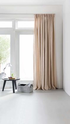 Blush pink sheer curtains - Home Decor Living Room Decor Curtains, Living Room Windows, Hanging Curtains, Curtains With Blinds, Living Room Interior, Home Living Room, Living Room Designs, Blackout Curtains, Home Staging